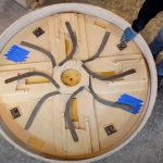 A creative design for a sample wooden table