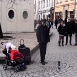 Street Musician's baby wants to help