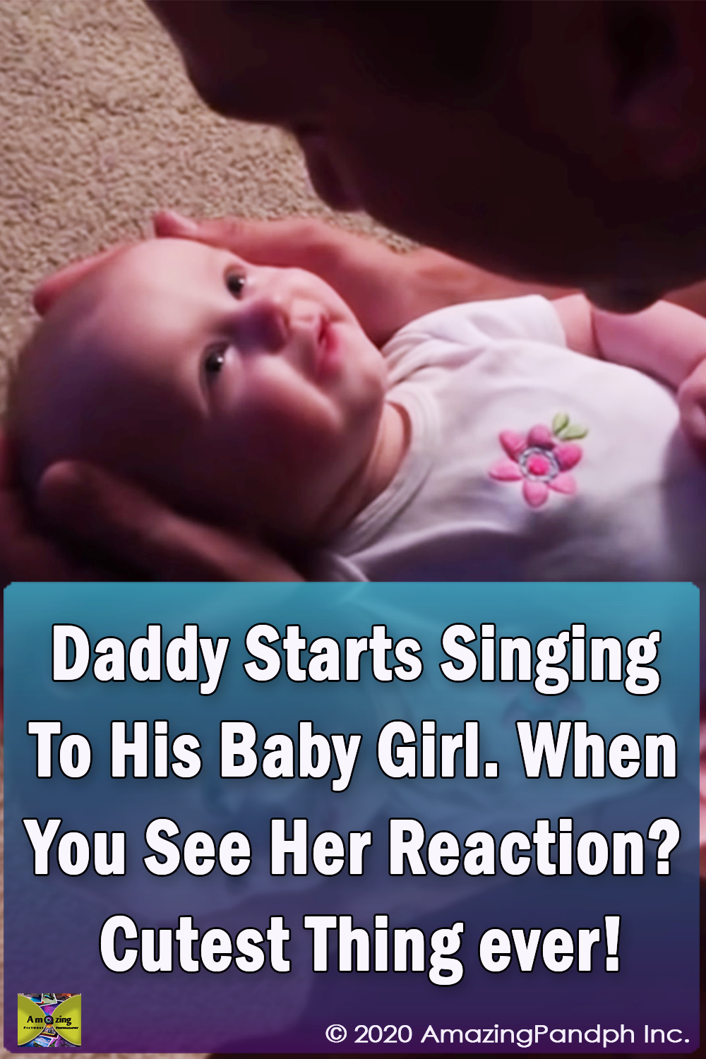 Daddy, Singing, Baby Girl, Baby, song, cutest thing, adorable,