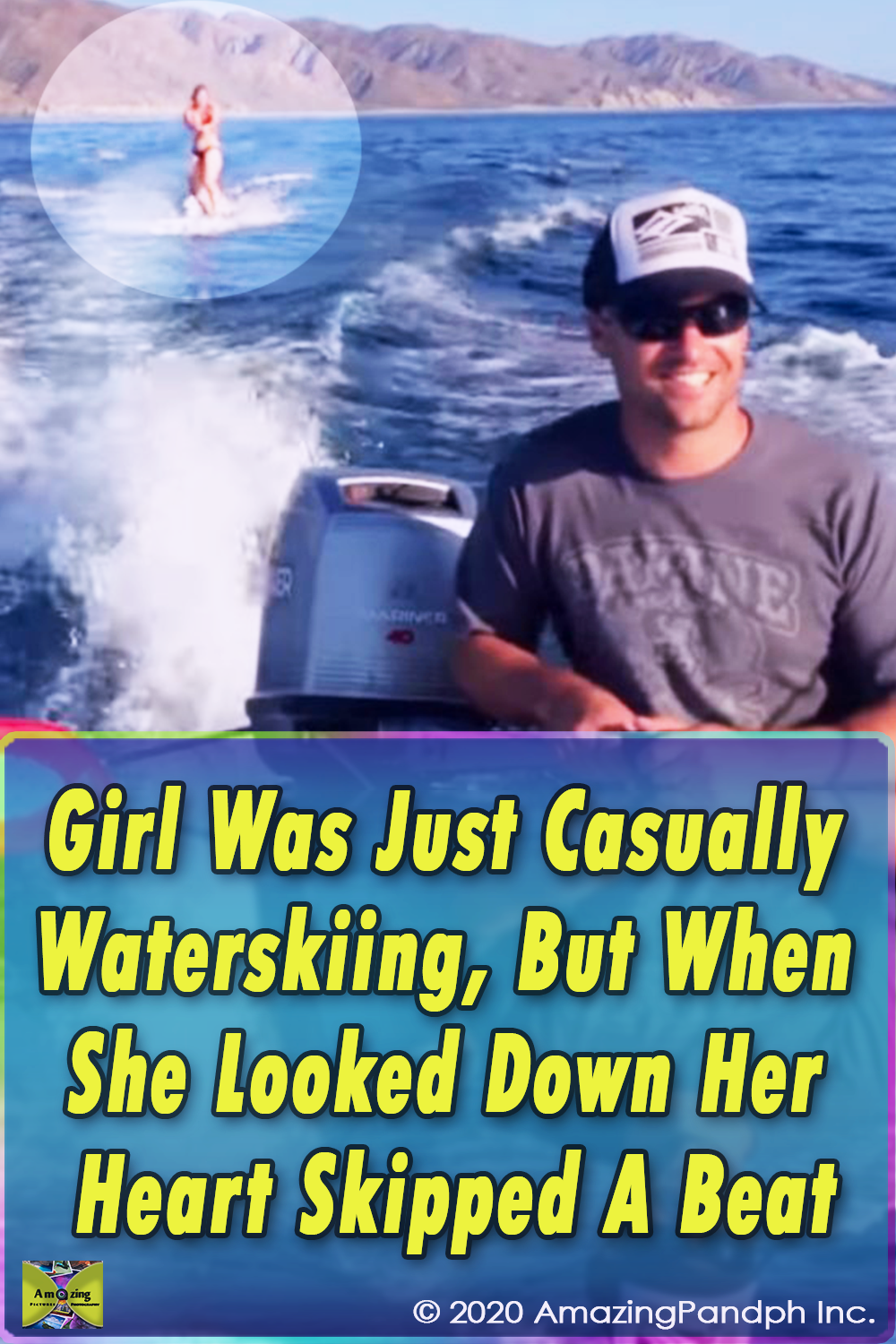 Girl Was Just ,Casually, Waterskiing,Water,ski,skiing,Girl,dolphin,video,sea,