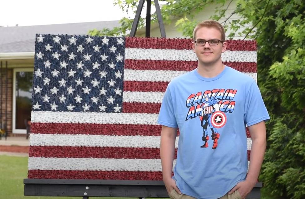 Teen, Project, Flag, USA, America, Creative, Art,