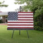 Teen creates US flag with toy soldiers