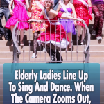 Elderly Ladies Line Up To Sing And Dance