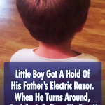Little Boy Gives Himself A Haircut