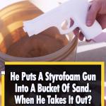 Styrofoam Gun Into solid aluminum