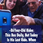 Sweet Surprise for a Retiree's last bus ride