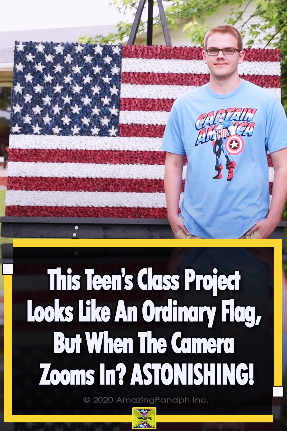 Teen, Project, Flag, USA, America, Creative, Art,