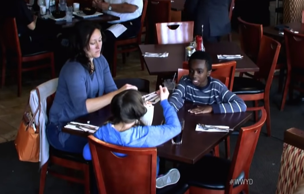 Daughter, family, Foster, mother, son, Starve, prank, social experiment, public, racism,