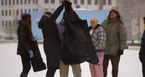 Veronica from Detroit, School Project, Genius Idea, Inspiring, Coat to sleeping bag, Homeless, Coat fro Homeless,