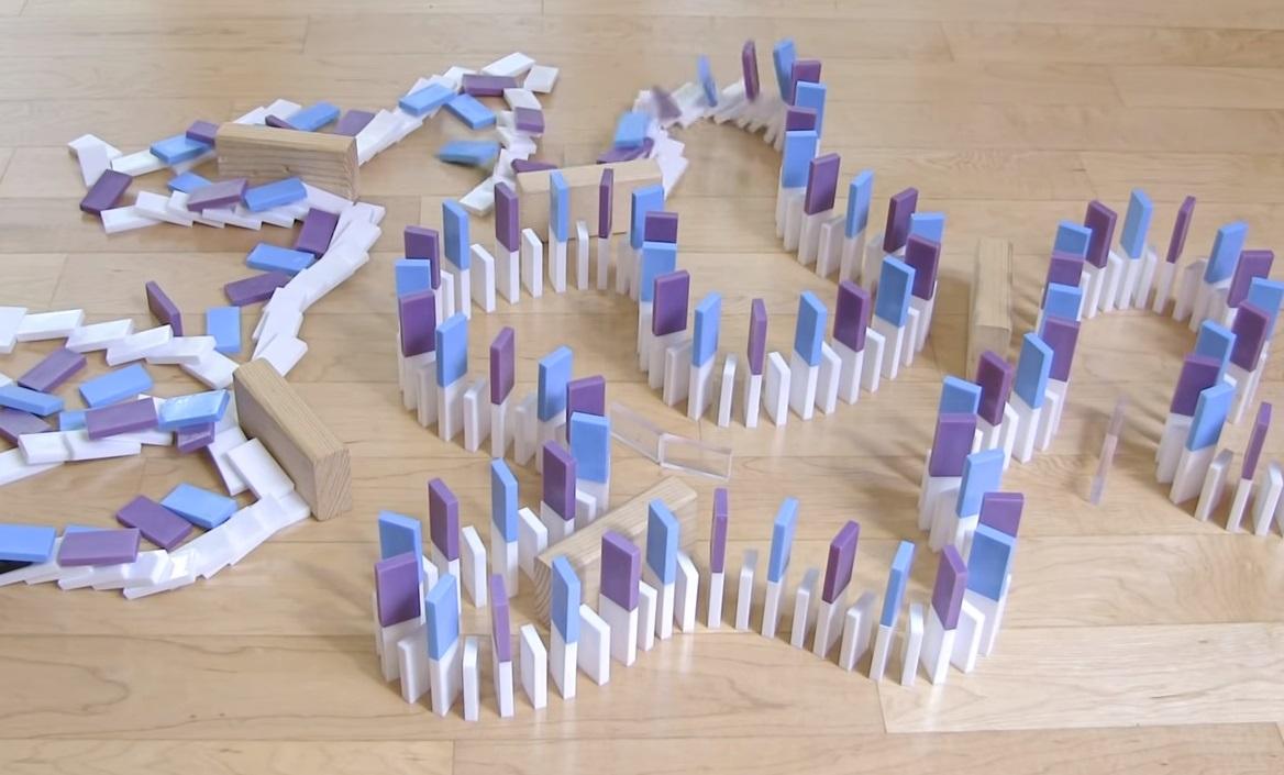 Domino trick, genius, inspiring, creative, amazing,