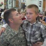 Soldier Makes Surprise Visit to Son's school