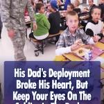 Soldier, surprise, son, family, children, touching, stories, love, school,