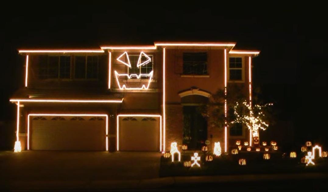 House, creative, decoration, Christmas, Halloween, Lights,