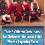 Children Surprise their parent in Christmas