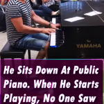He Sits Down At Public Piano. When He Starts Playing, No One Saw THIS Coming…