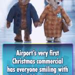 Unique advert for this Airport's first Christmas