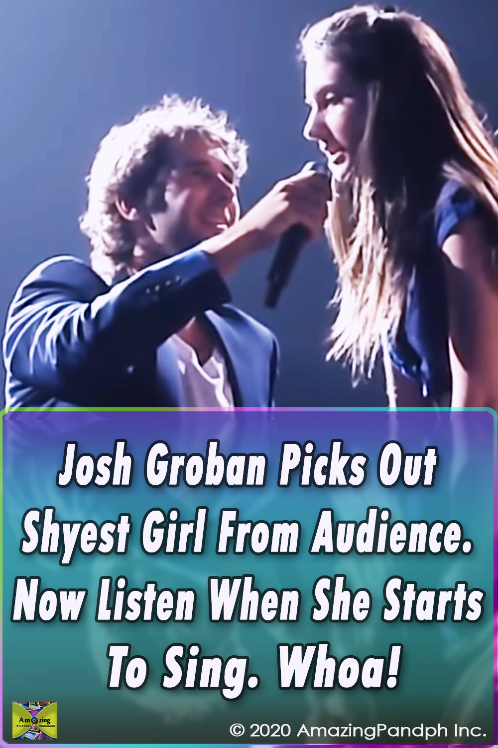 Josh Groban, Maude Daigneault, To Where You Are, Straight To You, Montreal,viral,video,most viewed,best voice,voice,sing,song,performance,talent,skills