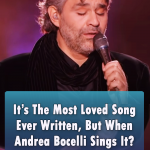 Bocelli performing Can't Falling In Love