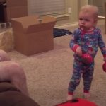 A kid doesn't want anyone to touch to her maracas