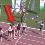 During the final lap of relay racing, what the girl in red made, left everyone in incredulity!