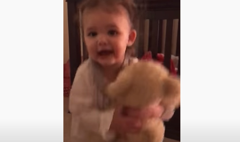 unique teddy bear, teddy bear with voice, dad's voice, adorable, sweet family, best story, speaking teddy bear,