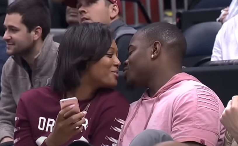 amazing, kiss cam, nba, punishement, rejected, boyfriend, girlfriend, Snog,