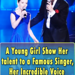 A Young Girl Show Her talent to a Famous Singer