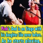 Pink's Dad is on Stage with his daughter