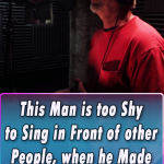 This Man is too Shy to Sing in Front of other People