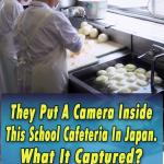 Camera, Inside School ,Cafeteria, In Japan,japan,video