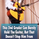 Playing John Cash Classic is not tough for this little kid